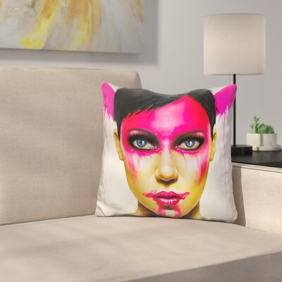Face the Day Throw Pillow