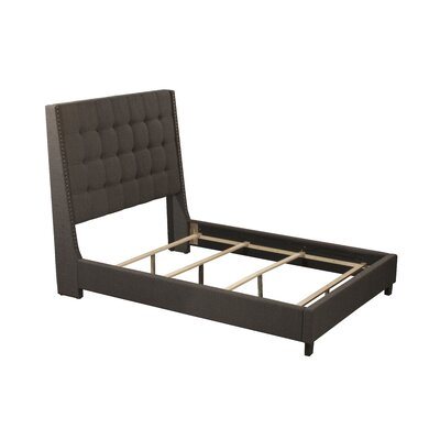 Overbay Linen Upholstered Panel Bed Size: King