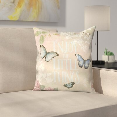 Butterfly Throw Pillow Size: 18 x 18