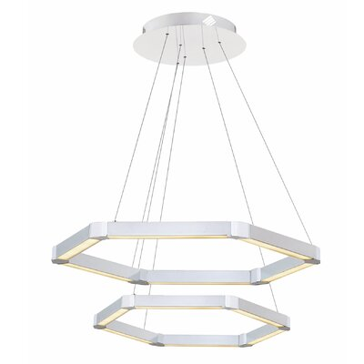 Rosenzweig 2-Light LED Geometric Pendant