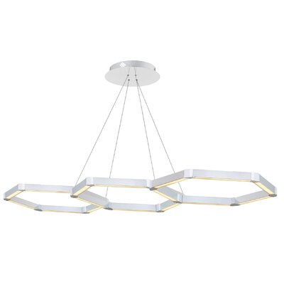 Rosenzweig 3-Light LED Geometric Pendant