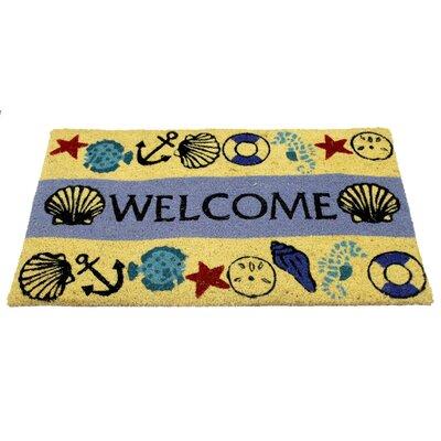 Crespin PVC Back Coir Bleach Doormat