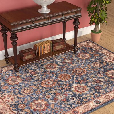 Westbrook Blue Area Rug Rug Size: Rectangle 53 x 76