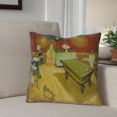 Burdick The Night Cafe Waterproof Throw Pillow Size: 18 H x 18 W