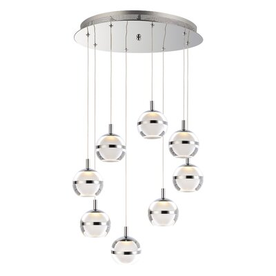 Senters 8-Light LED Cluster Pendant