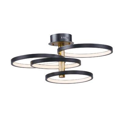 Laflamme 4-Light LED Semi Flush Mount