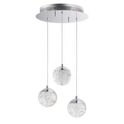 Sensabaugh 3-Light LED Cluster Pendant