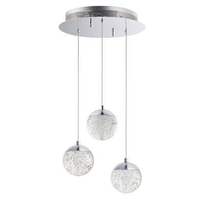 Sensabaugh 3-Light LED Cluster Pendant