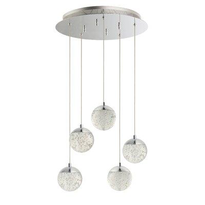 Sensabaugh 5-Light LED Cluster Pendant