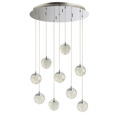 Sensabaugh 9-Light LED Cluster Pendant