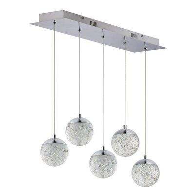Sensabaugh 5-Light LED Kitchen Island Pendant