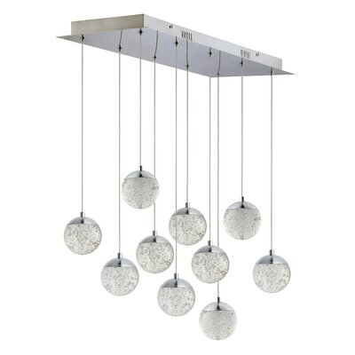 Sensabaugh 10-Light LED Kitchen Island Pendant