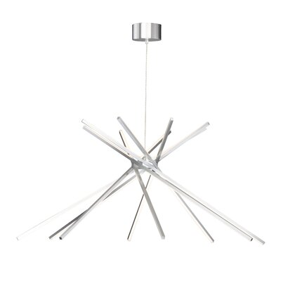Senter 8-Light LED Geometric Pendant Finish: Satin Aluminum