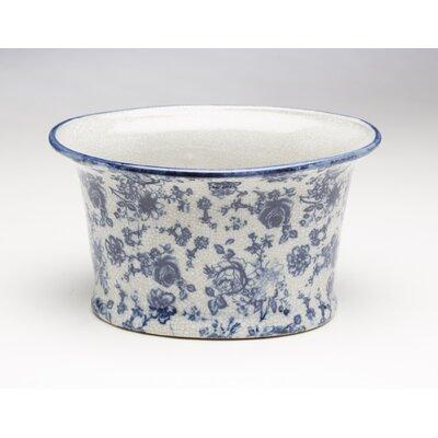 Ferrier Flower Design Oval Porcelain Pot Planter 34E1B7E6C8194895A59B7099837F1C3F