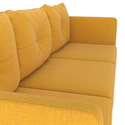 Crivello Armchair Upholstery: Sunflower, Finish: Black