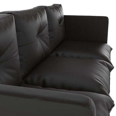 Sunshine Coast Sofa Upholstery: Onyx, Finish: Black