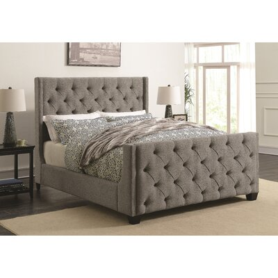 Coaster Upholstered Panel Bed Size: King