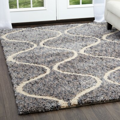 Chelsea Trellis Blue Area Rug Rug Size: Rectangle 53 x 72
