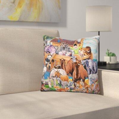 Noah Ark Throw Pillow