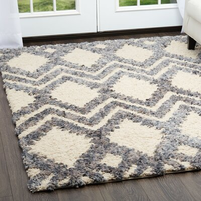 Chelsea Geometric Cream Area Rug Rug Size: Rectangle 79 x 102