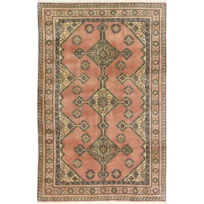 Westbury Ghashghai Hand-Woven Wool Dusty Rose Area Rug Size: Rectangle 810 L x 59