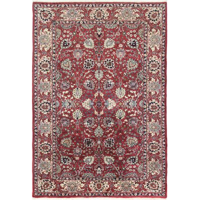 One-of-a-Kind Ritenour Hamadan Hand-Woven Wool Red Area Rug