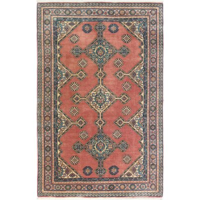 Westbury Ghashghai Hand-Woven Wool Dusty Rose Area Rug Size: Rectangle 89 L x 58