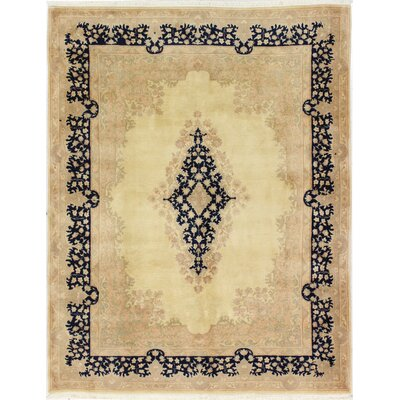 One-of-a-Kind Horovitz Hand-Woven Wool Ivory Area Rug