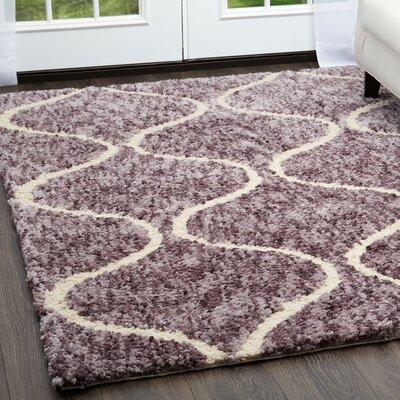 Chelsea Trellis Mauve Area Rug Rug Size: Rectangle 79 x 102