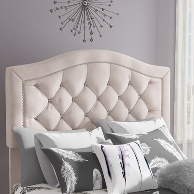 Bridgeton Upholstered Panel Headboard Size: Full/Queen, Upholstery: Ivory