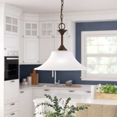 Buren 1-Light Inverted Pendant Finish: Bell Metal Bronze
