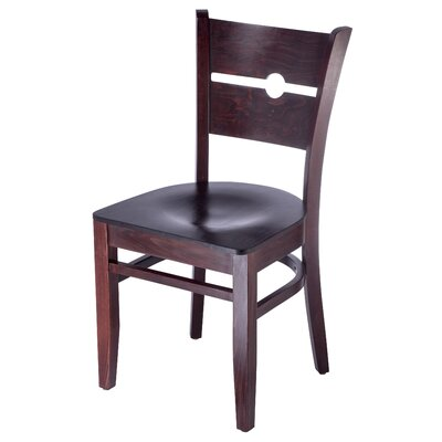 Northview Coin Solid Wood Dining Chair Color: Dark Mahogany