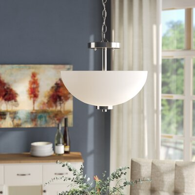 Gaskell 2-Light Bowl Pendant Finish: Chrome