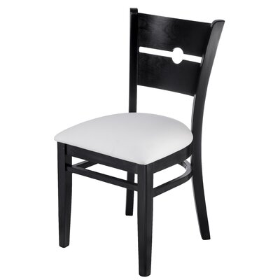 Northtrop Coinback Upholstered Dining Chair Upholstery Color: White, Frame Color: Black