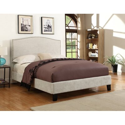 Mckissick Upholstered Panel Bed Size: Full, Color: Cream