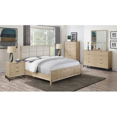Holmquist Upholstered Panel Bed Size: Queen