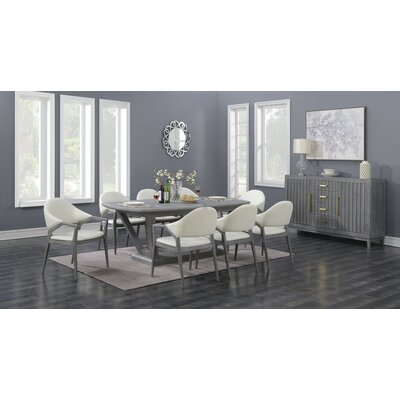 Peirce 9 Piece Drop Leaf Dining Set