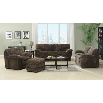 Woodrow Mocha 4 Piece Living Room Set