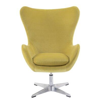 Heid Swivel Wingback Chair Finish: Gold