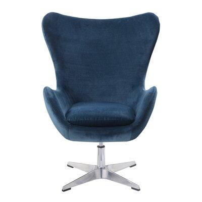Heid Swivel Wingback Chair Finish: Green