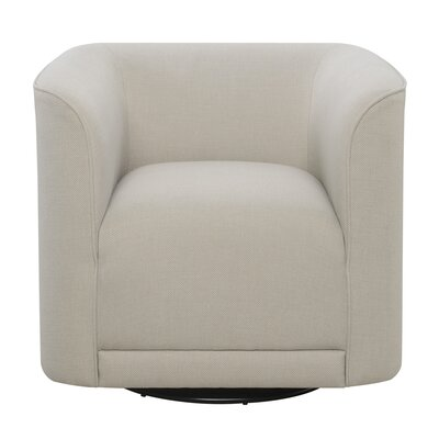 Seibert Swivel Barrel Chair Finish: Cream