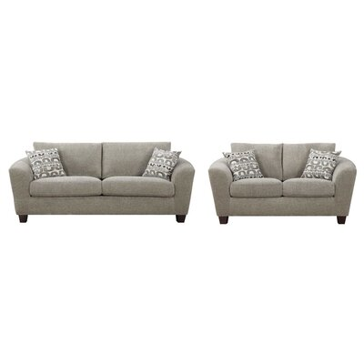 Bismuth 2 Piece Living Room Set Upholstery: Bone