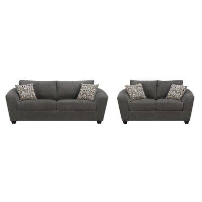 Bismuth 2 Piece Living Room Set Upholstery: Ink