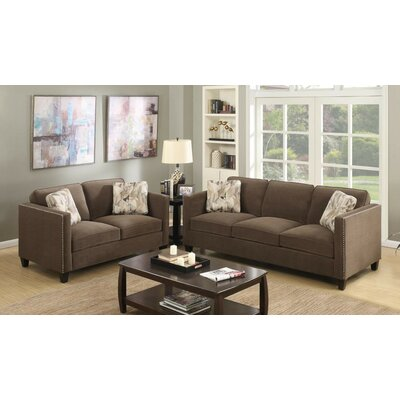 Baugh 2 Piece Living Room Set Upholstery: Charcoal Gray