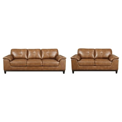 Lonato 2 Piece Living Room Set Upholstery : Chestnut