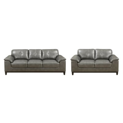 Lonato 2 Piece Living Room Set Upholstery : Gray