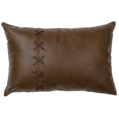 Tynan Leather/Suede Lumbar Pillow Color: Fabric Back