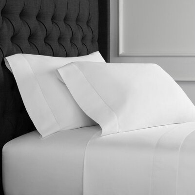 Gallucci Plain Hem Organic Cotton Pillowcase Size: Standard