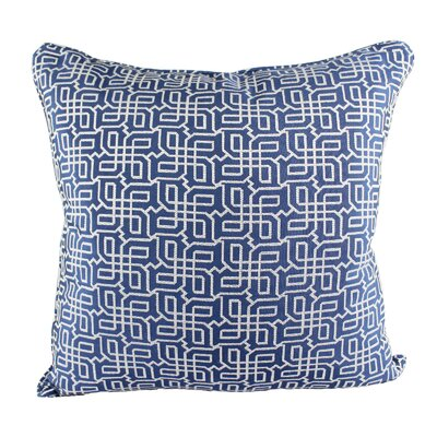 Lounsbury Cozy Jacquard Plaid Pillow Cover Color: Blue
