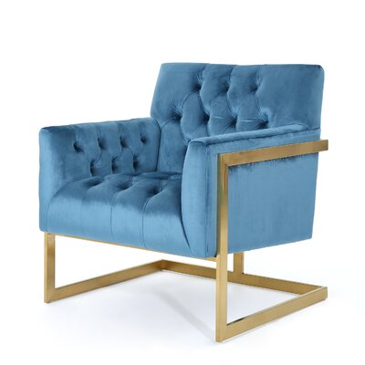 Hayden Modern Armchair Upholstery: Aqua